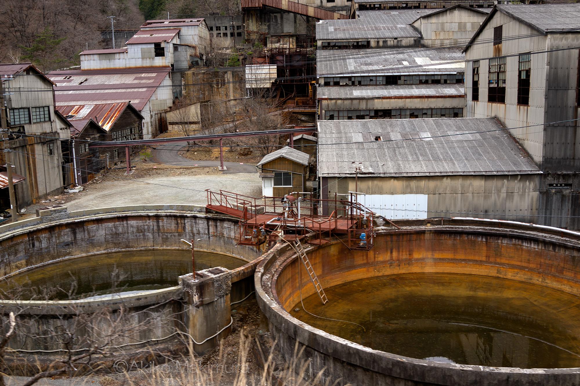 足尾銅山の通洞選鉱所