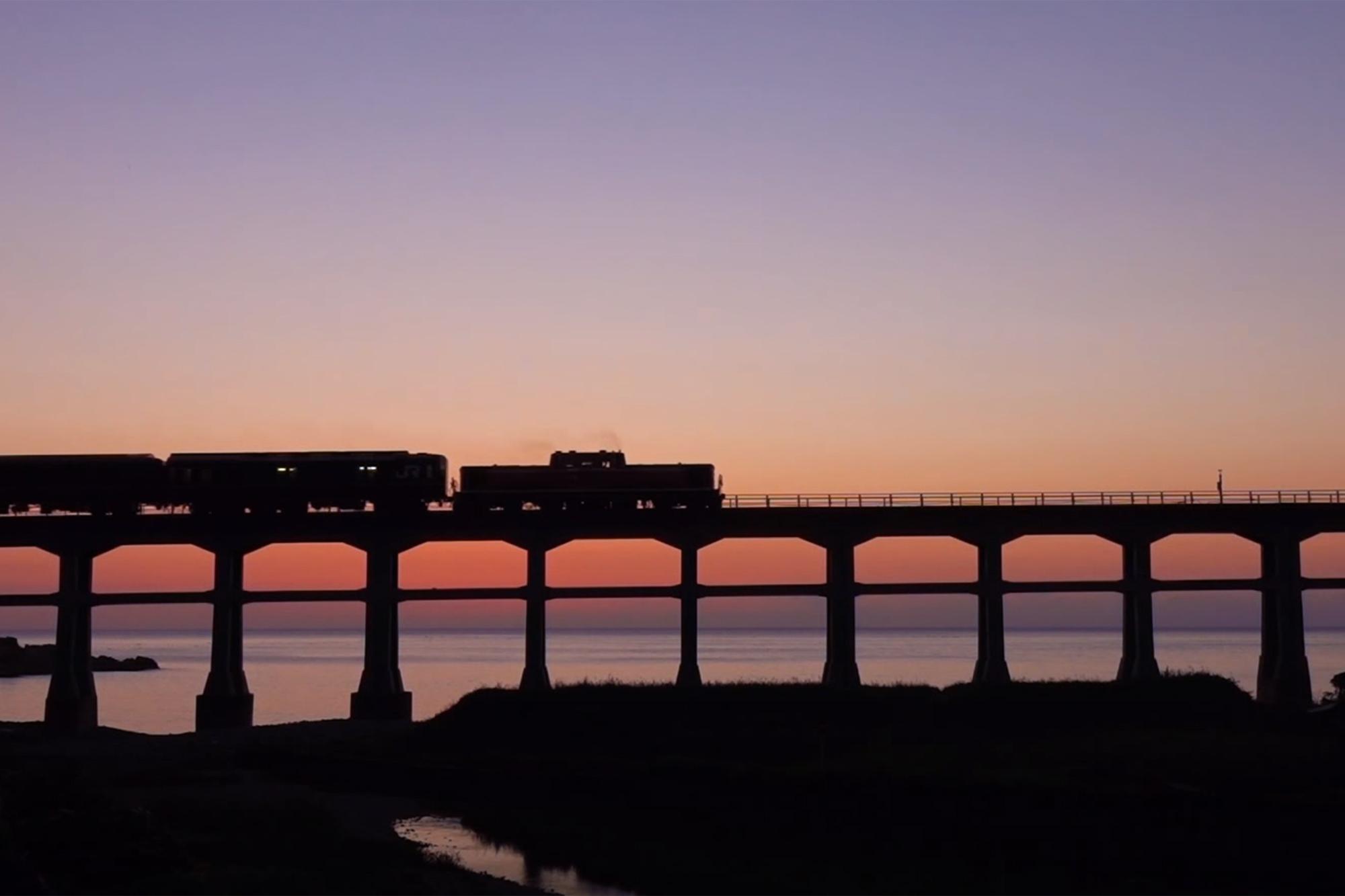 トワイライトの惣郷川橋梁